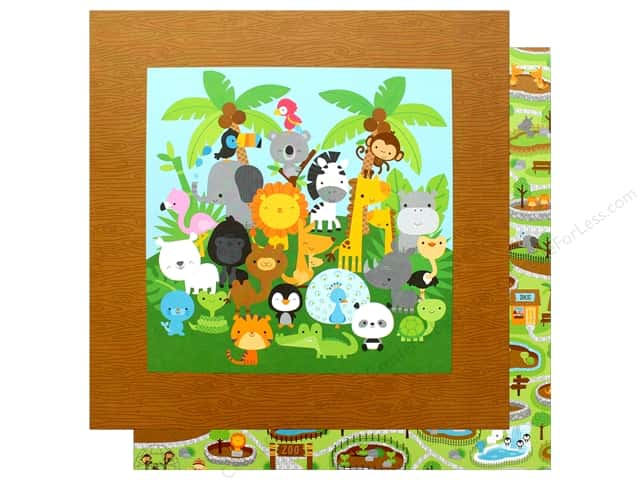 "Doodlebug Collection At The Zoo Paper 12""x 12"" At The Zoo (25 pieces)"