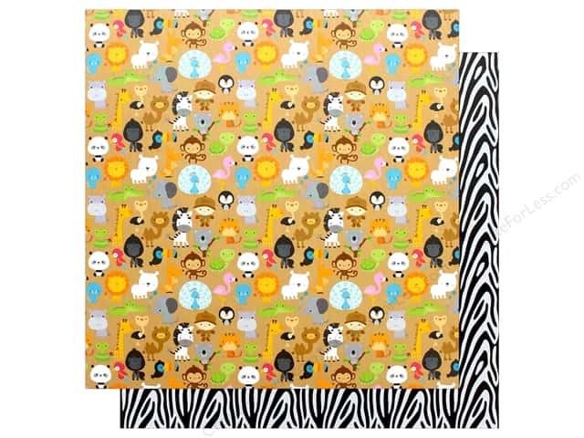 "Doodlebug Collection At The Zoo Paper 12""x 12"" Zoo Friends (25 pieces)"