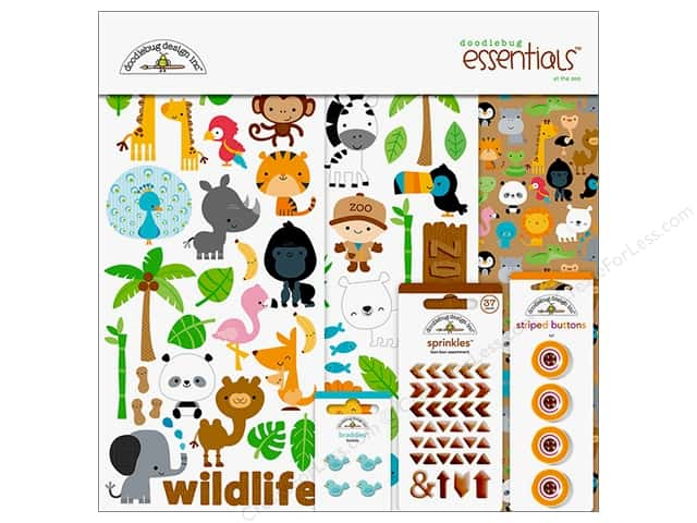 Doodlebug Collection At The Zoo Essentials Kit