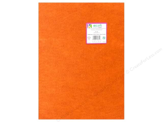 Kunin Felt 9 in. x 12 in. Classic Pumpkin Spice (24 pieces)