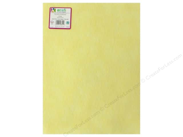 Kunin Felt 9 x 12 in. Lemon Frost (24 pieces)