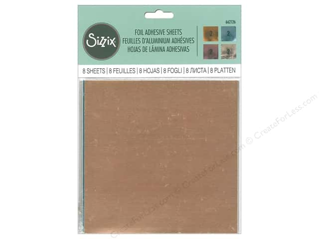 "Sizzix Adhesive Sheets 6""x 6"" Foil Assorted"