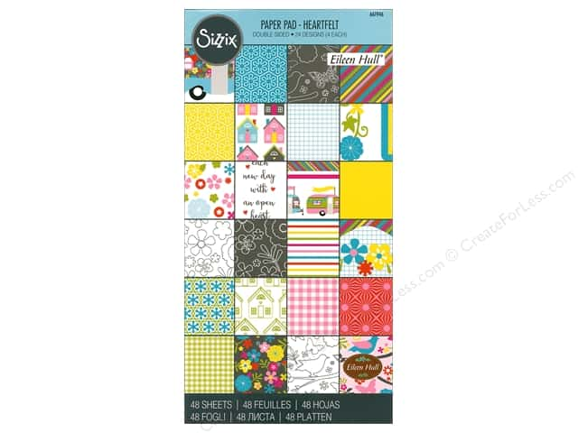 Sizzix Accessories Eileen Hull Paper Pad Heartfelt