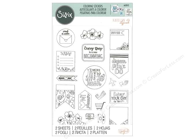 Sizzix Sticker Katelyn Lizardi Coloring Color Your Planner