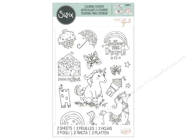 Sizzix Sticker Katelyn Lizardi Coloring Follow Your Dreams