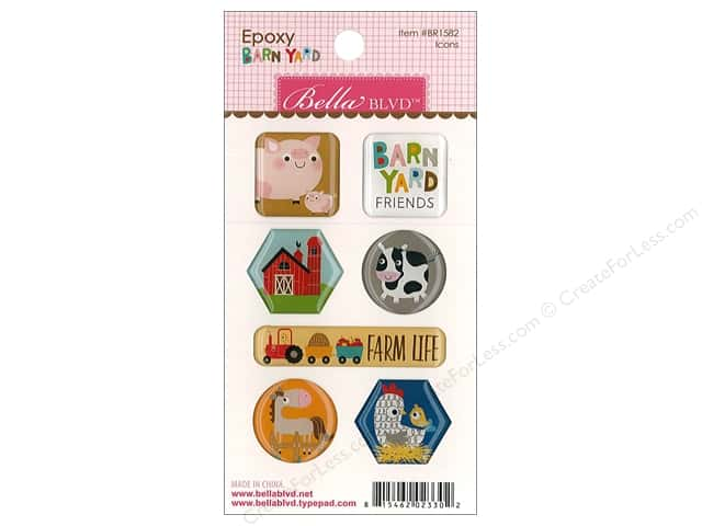 Bella Blvd Collection Barnyard Sticker Epoxy Icons