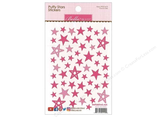 Bella Blvd Sticker Puffy Stars Punch