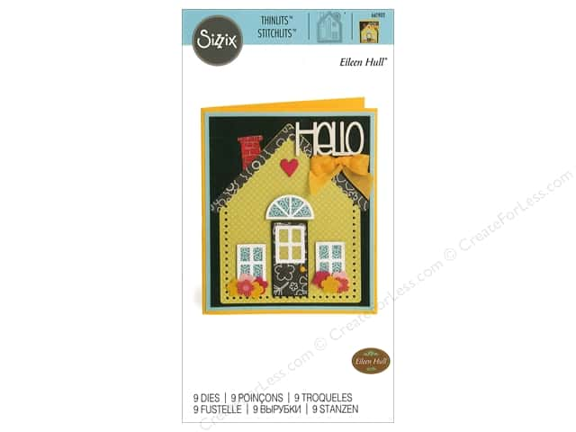 Sizzix Dies Eileen Hull Thinlit House/Pocket Stitchlits