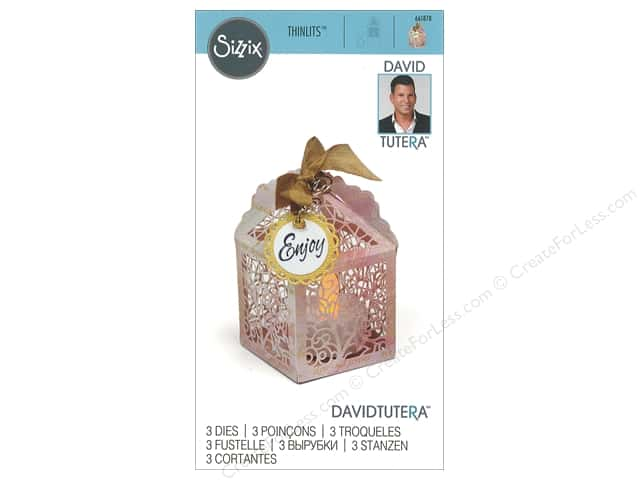 Sizzix Dies David Tutera Thinlits Favor Box Birdcage
