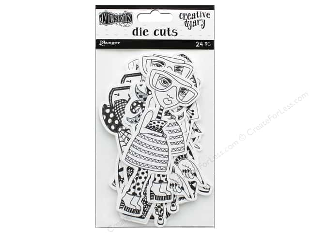 Ranger Dylusions Creative Dyary Die Cuts - Dy-Cuts 1