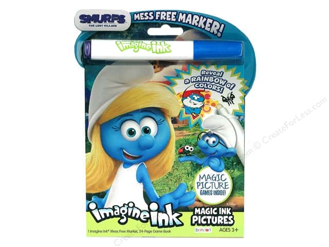 Bendon Magic Ink Pictures Book Smurfs