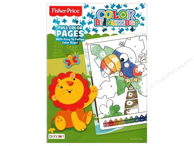 Bendon Color By Number Book Fisher Price
