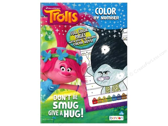Bendon Color By Number Book Dreamwork Trolls