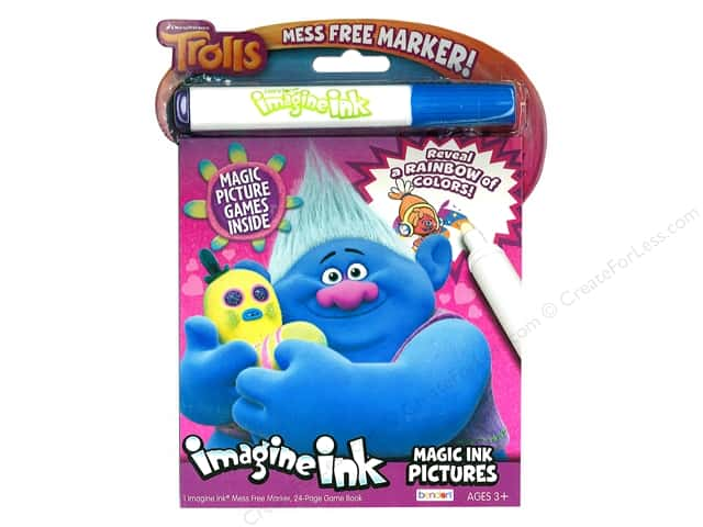 Bendon Magic Ink Pictures Book Dreamworks Trolls