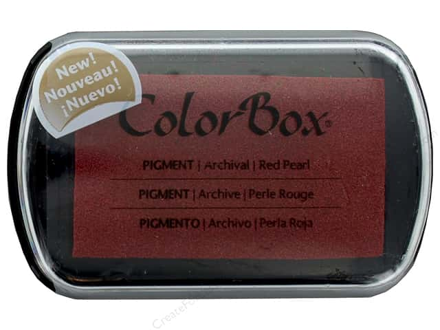 Colorbox Full Size Pigment Inkpad Metallic Red Pearl