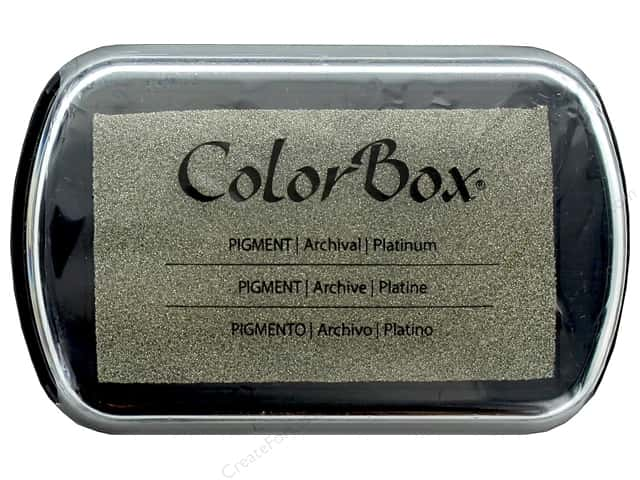Colorbox Full Size Pigment Inkpad Metallic Platinum