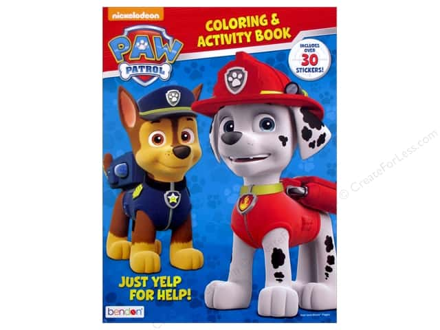 Bendon Coloring & Activity Book Stickers Paw Patrol