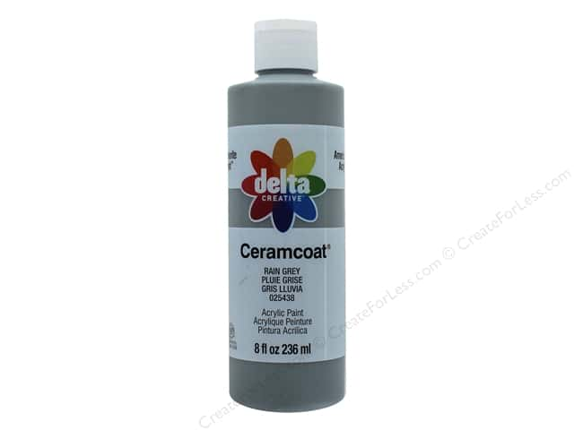 Delta Ceramcoat Acrylic Paint 8 oz. #25438 Rain Grey