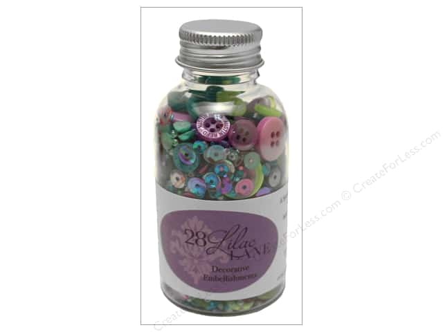 Buttons Galore 28 Lilac Lane Embellishment Bottle Gemstone