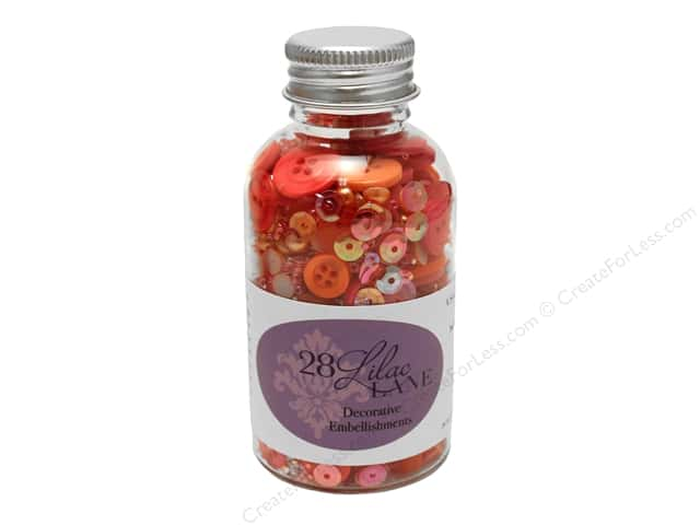 Buttons Galore 28 Lilac Lane Embellishment Bottle Fruity Fun