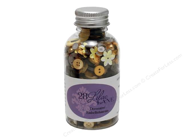 Buttons Galore 28 Lilac Lane Embellishment Bottle Queen Bee