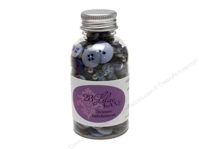 Buttons Galore 28 Lilac Lane Embellishment Bottle Stormy Skies