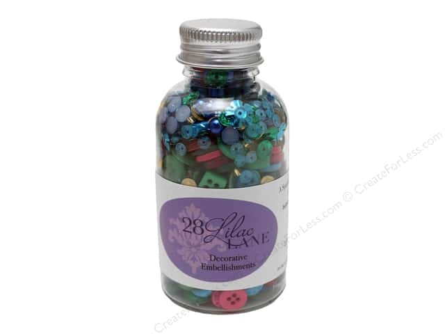 Buttons Galore 28 Lilac Lane Embellishment Bottle Fiesta