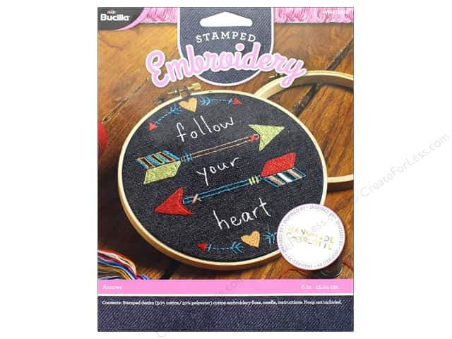 Bucilla Embroidery Kit Stamped Arrows