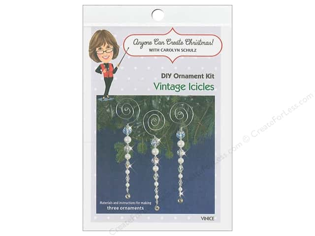 Solid Oak Kit Beaded Ornament Vintages Icicles
