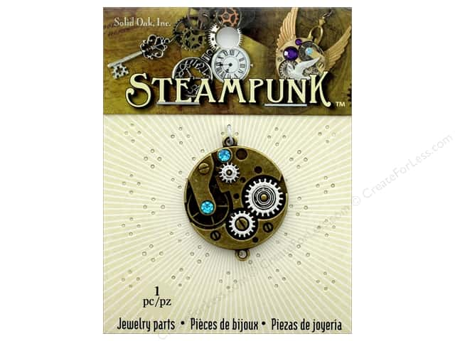 Solid Oak Pendant Steampunk Watch Movement 30mm