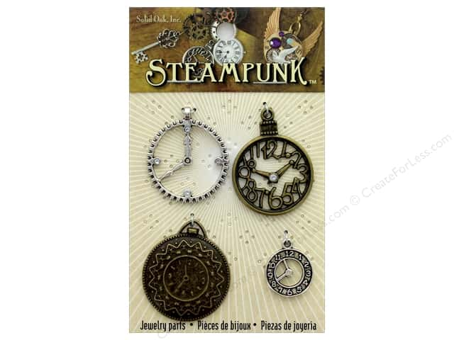 Solid Oak Charm Steampunk Clock 1 4 pc