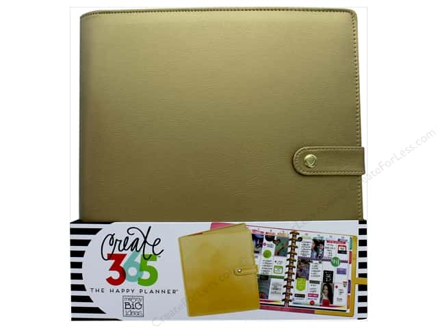 Me&My Big Ideas Create 365 Happy Planner Deluxe Cover Big Gold