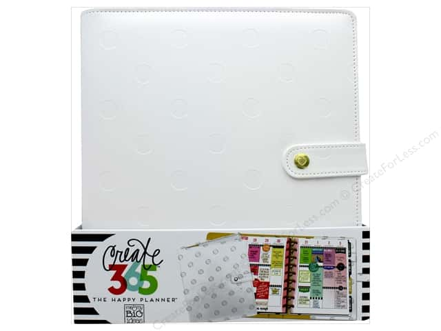 Me&My Big Ideas Create 365 Happy Planner Deluxe Cover Classic Snow Dots