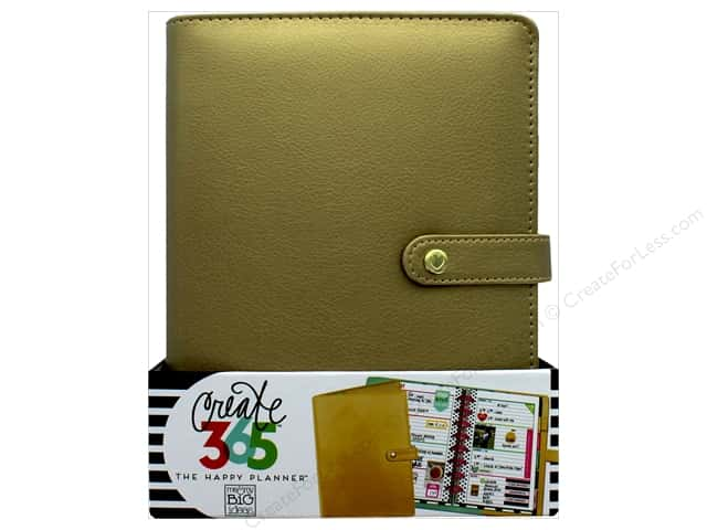 Me & My Big Ideas Create 365 Happy Planner Deluxe Cover - Mini Gold