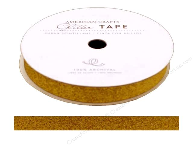 American Crafts Glitter Tape 3/8 in. Sunflower