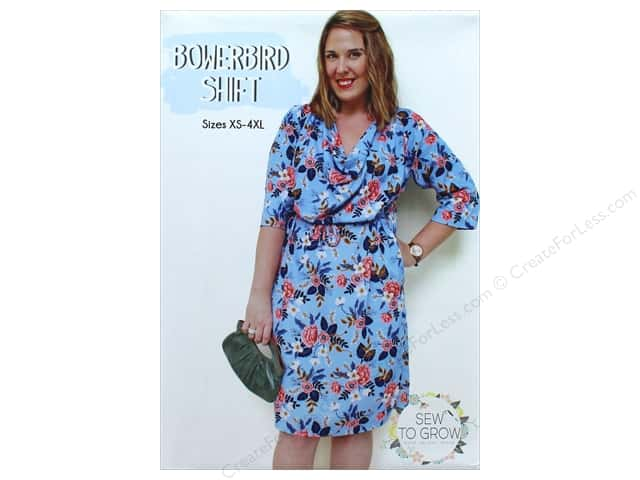Sew To Grow Bowerbird Shift Size XS-4XL Pattern