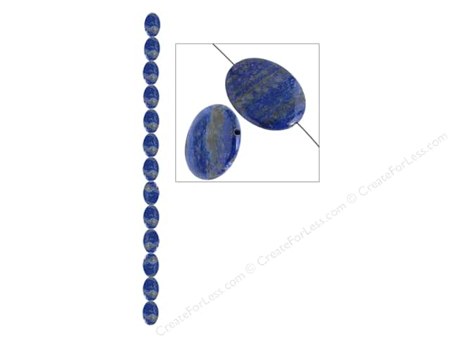 John Bead Semi Precious Bead 8 in. Lapis 10x 14mm Oval