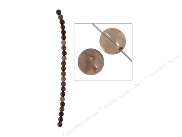 John Bead Semi Precious Bead 8 in. Quartz 8 mm Round