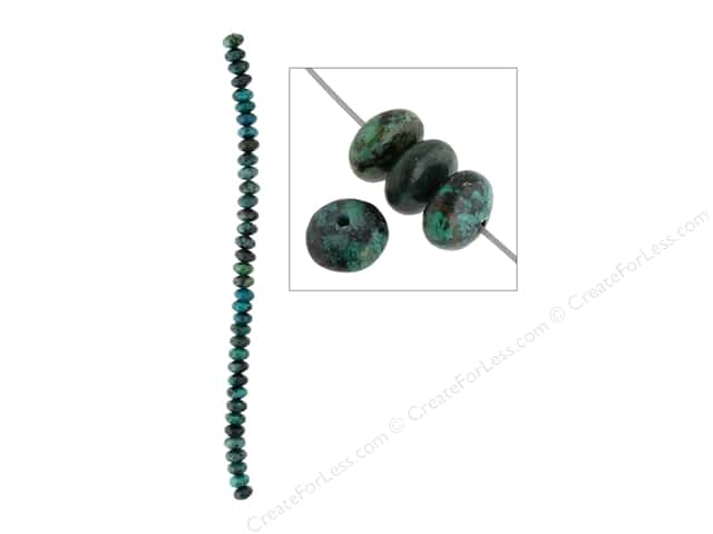 John Bead Semi Precious Bead 8 in. African Turquoise 8 mm Rondelle