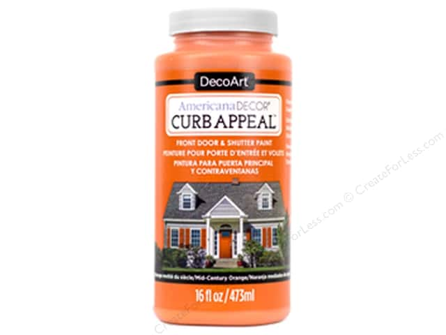 DecoArt Americana Decor Curb Appeal Paint 16 oz. Mid-Century Orange