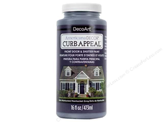 DecoArt Americana Decor Curb Appeal Paint 16 oz. Nantucket Grey