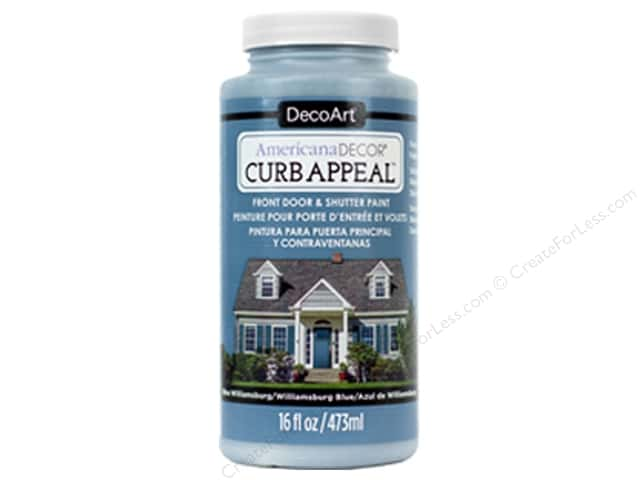 DecoArt Americana Decor Curb Appeal Paint 16 oz. Williamsburg Blue