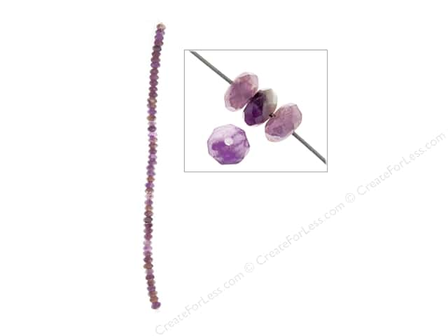 John Bead Semi Precious Bead 8 in. Dogteeth Amethyst 6 mm Rondelle Facetted