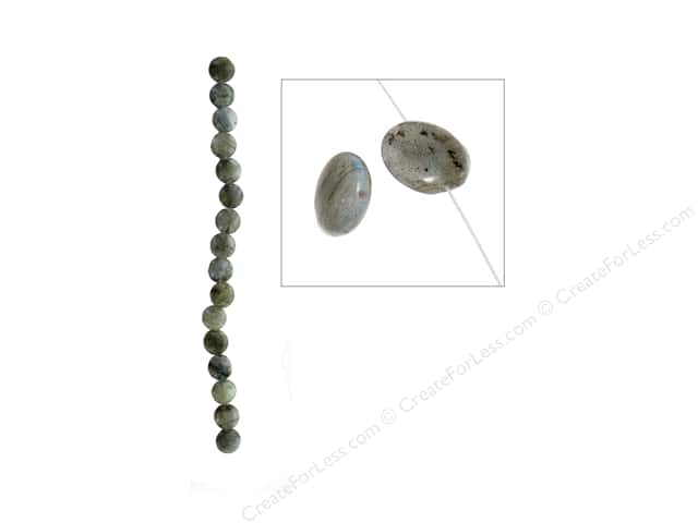John Bead Semi Precious Bead 8 in. Labradorite 12 mm Coin
