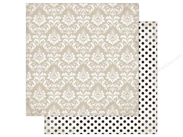 "Echo Park Collection Wedding Bliss Paper 12""x 12"" Dearly Beloved Damask (25 pieces)"