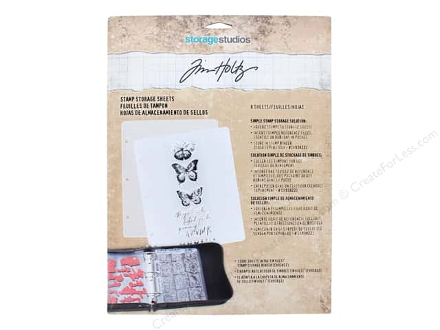 Storage Studios Tim Holtz Stamp Refill Sheets 8pc