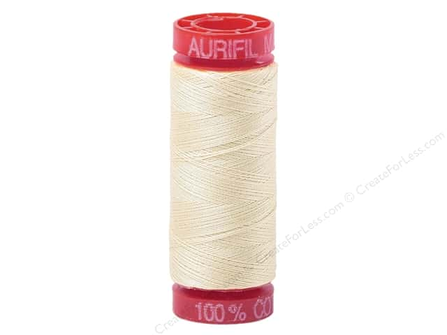 Aurifil Mako Cotton Quilting Thread 12 wt. #2026 Chalk 54 yd.