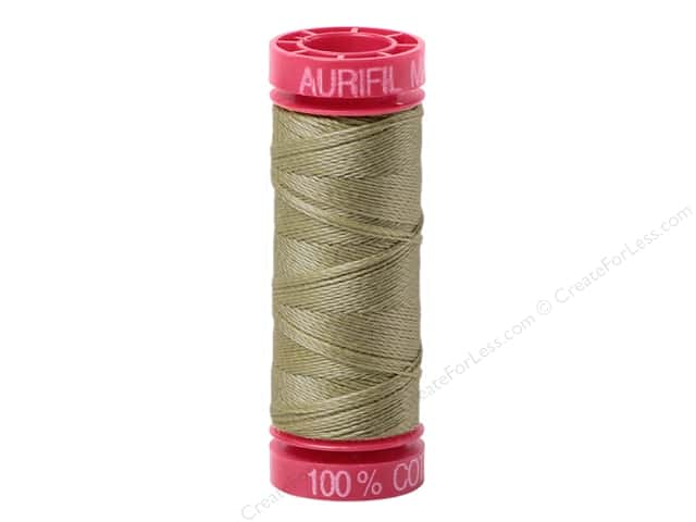 Aurifil Mako Cotton Quilting Thread 12 wt. #2370 Sandstone 54 yd.