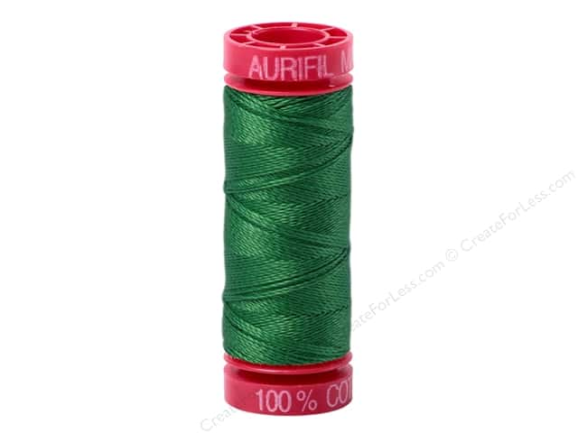 Aurifil Mako Cotton Quilting Thread 12 wt. #2870 Green 54 yd.