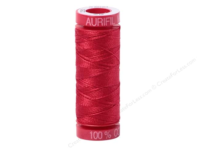 Aurifil Mako Cotton Quilting Thread 12 wt. #2250 Red 54 yd.